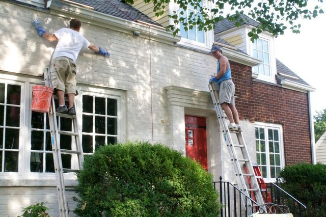 How to Paint Brick | Hunker on Brick House Painting Ideas  id=22670