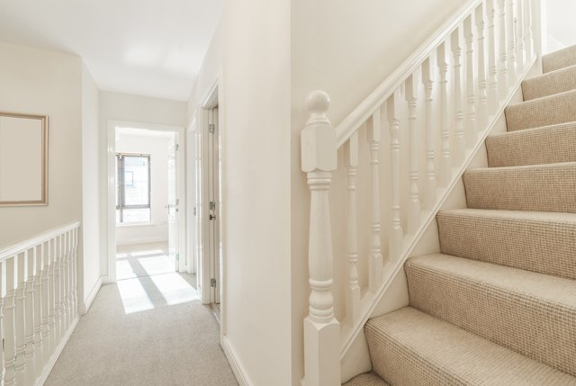 How To Put Carpet On Stairs Hunker   Carpet Colors For Stairs