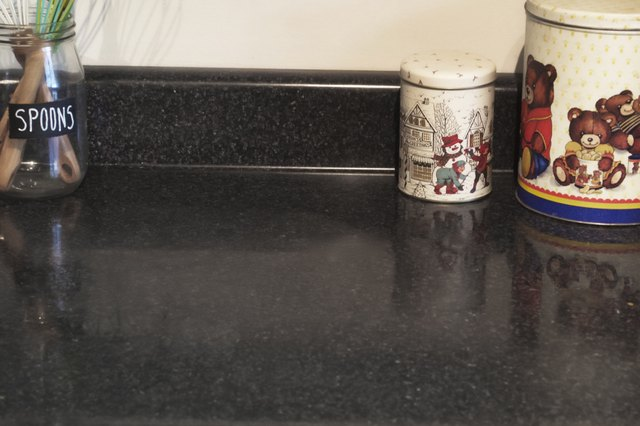 Removing Hard Water Stains From a Quartz Countertop | Hunker on Black Granite Stain  id=56442