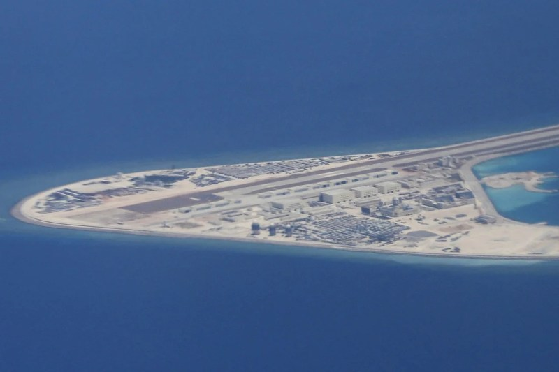 China has also built airstrips and other military facilities on the artificial islands. Photo: AP