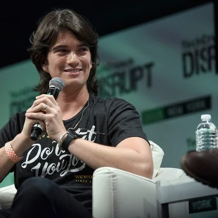 Adam Neumann, co-founder and CEO of WeWork until he was fired in 2019, speaks at a technology conference.  He billed the company as a technical startup and disruptor, but it was just a real estate company - and a very poorly run one - two authors explain brilliantly in their book The Cult of We.  Photo: Noam Galai / Getty Images for TechCrunch