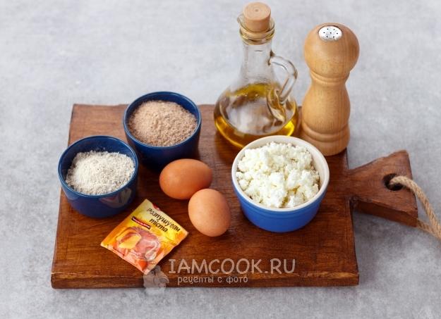Ингредиенты для хлеба по Дюкану в духовке