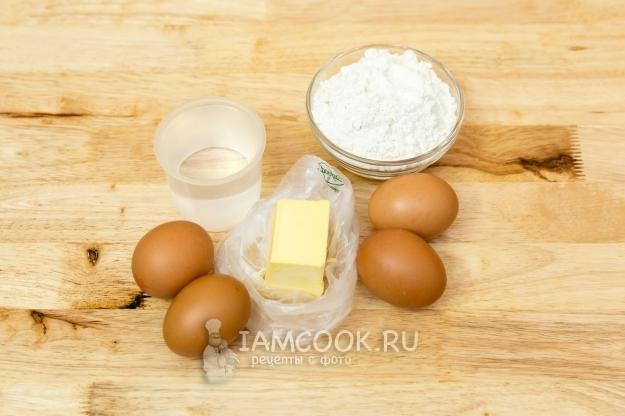 Ингредиенты для профитролей