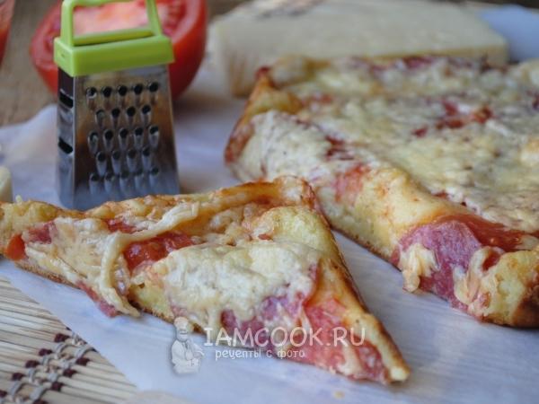 Пицца из жидкого теста на кефире — рецепт с фото пошагово ...