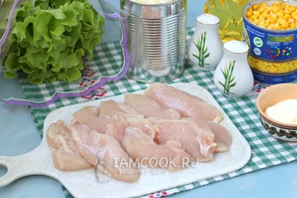 Салат «Фантазия» с курицей — рецепт с фото пошагово. Как ...