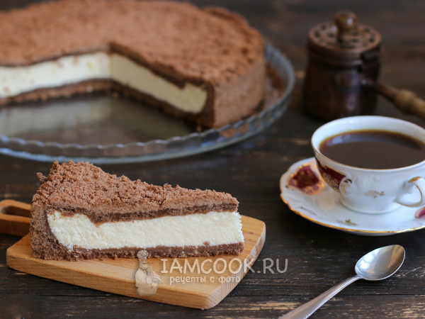Шоколадная королевская ватрушка с творогом — рецепт с фото ...