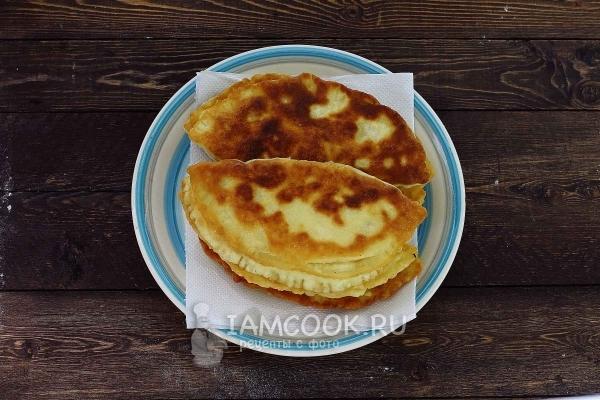 Жареные пирожки с картошкой на кефире (на сковороде ...