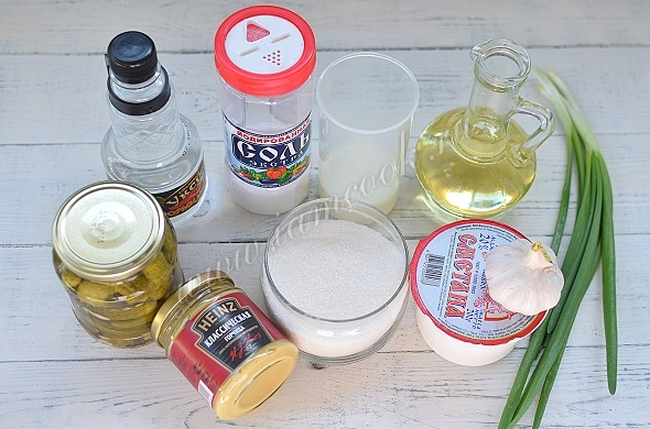 Ингредиенты для соуса Тартар