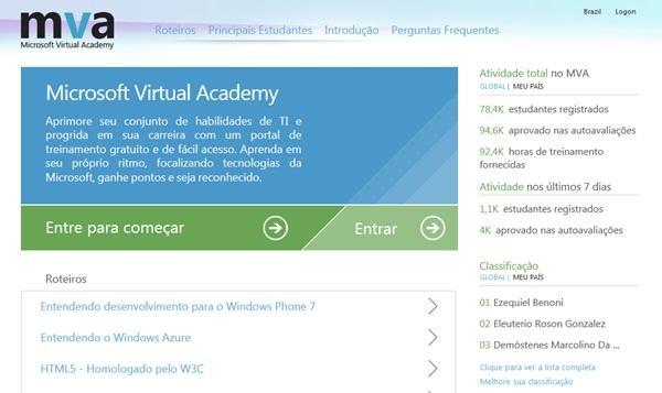 Microsoft Virtual Academy: treinamentos gratuitos com certificado de conclusão