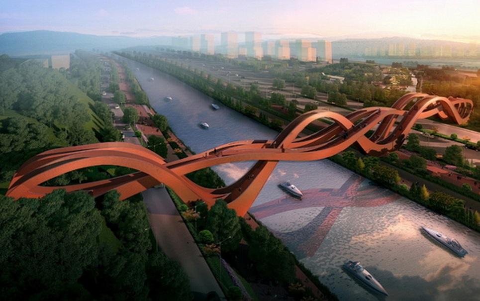 Ponte que parece feita de nós será construída na China
