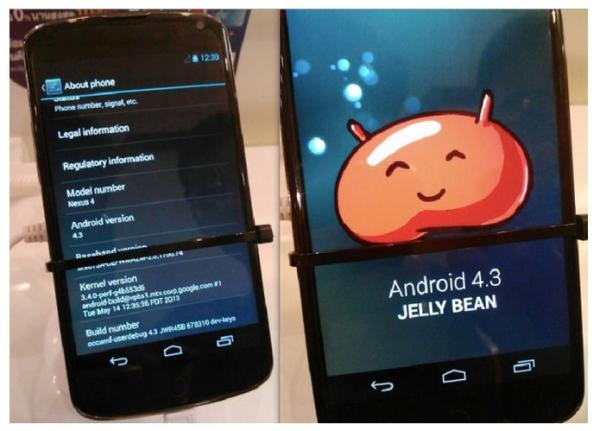 Android 4.3: vazam imagens da suposta atualização