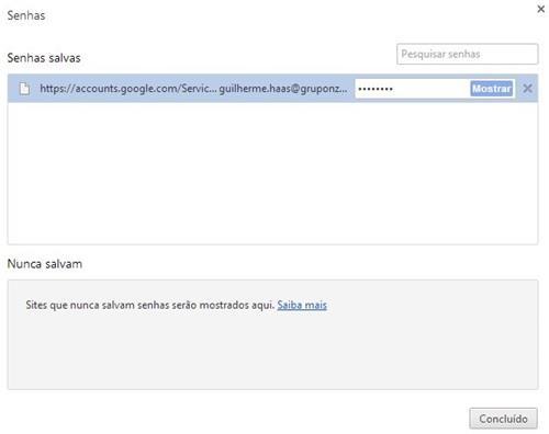 Como fazer para outras pessoas não verem as senhas salvas no navegador