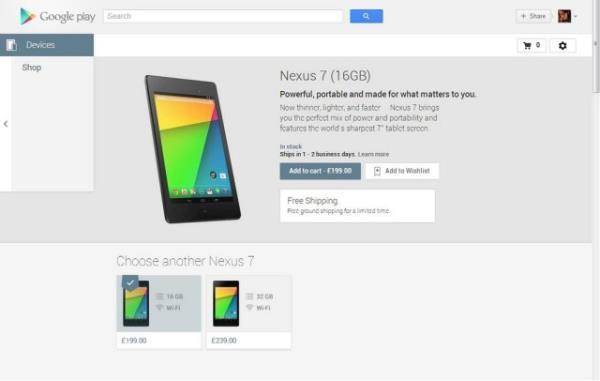 Novo Nexus 7 já está disponível na Europa e no Japão