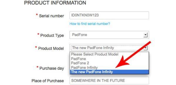 Novo PadFone Infinity surge em página de suporte técnico da ASUS