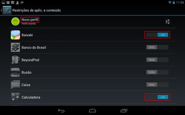Android: como criar um perfil restrito