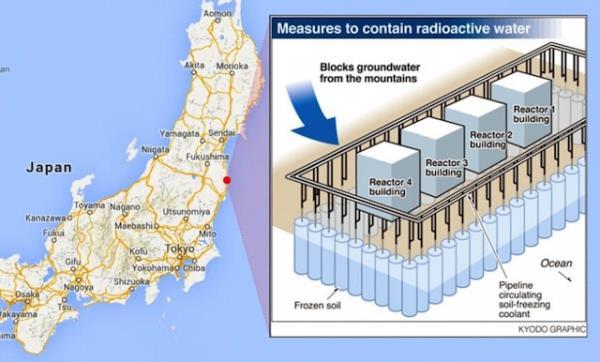 Japão pode usar muro de gelo para barrar vazamento nuclear em Fukushima