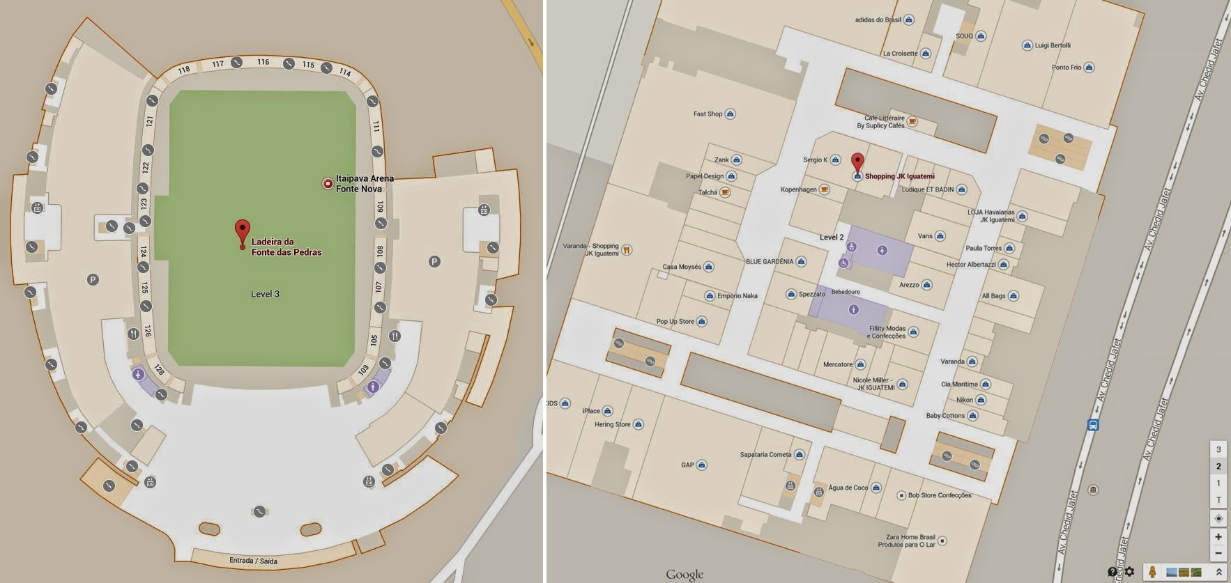 Mapas do interior de estabelecimentos chegam ao Google Maps brasileiro