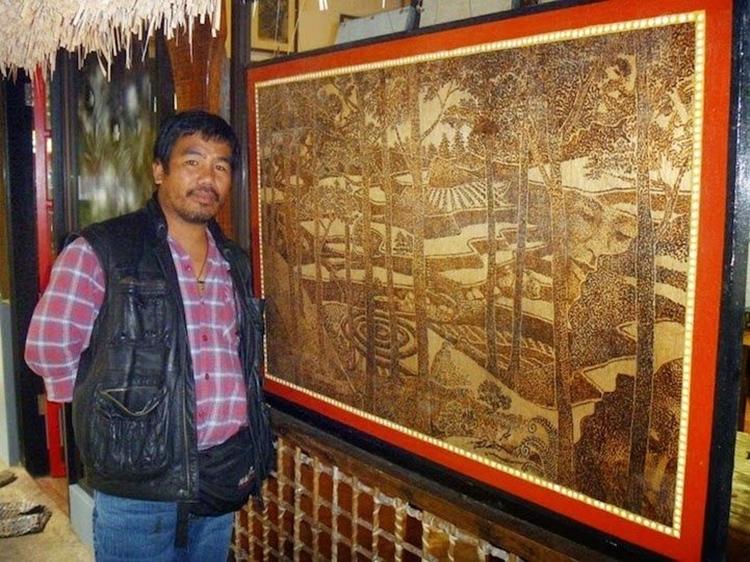 Artista filipino cria obras incríveis usando lente de aumento e luz solar