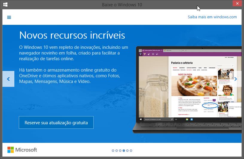 Gratuito para todos? Notificação do Windows 10 está chegando a todos os PCs