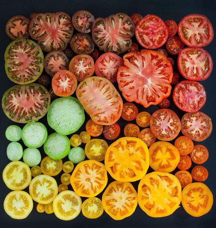 Tomates cortados.