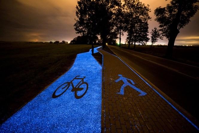 Resultado de imagem para ciclovia brilha no escuro