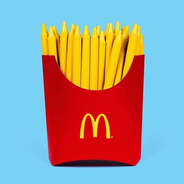 Batatas fritas ou giz de cera