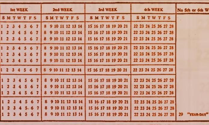 Calendário fixo