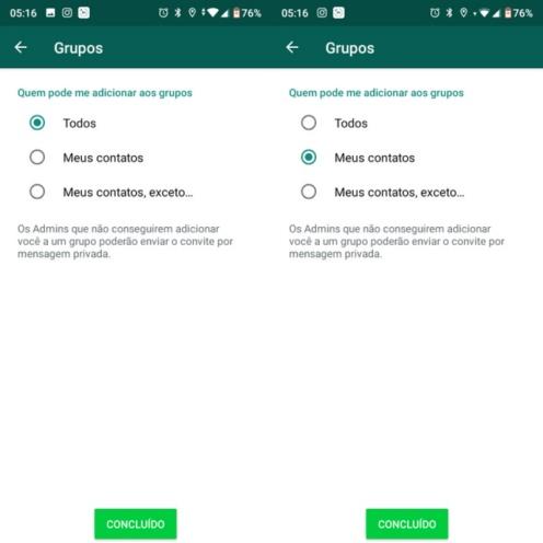 22094128725027 - Lista negra do WhatsApp: novo recurso permite bloquear inclusão em grupos