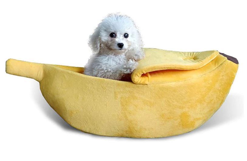 Imagem: Cama pet em formato de banana