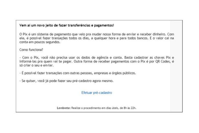 E-mail de phishing identificado pela Kaspersky