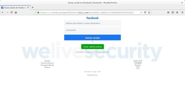 Usuário é redirecionado a uma página falsa com as mesmas características da original.
