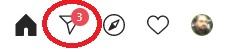Assim que você acessar o site oficial do Instagram, um contador mostrará a quantidade de mensagens recebidas