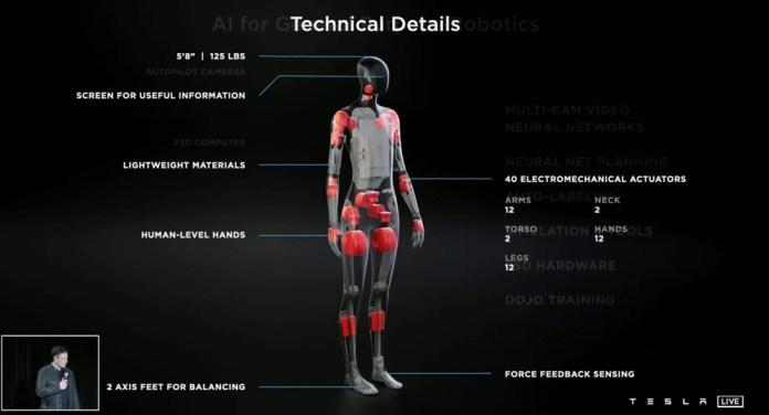 Até mesmo os pés do robô possuem resposta háptica ao movimento no solo.