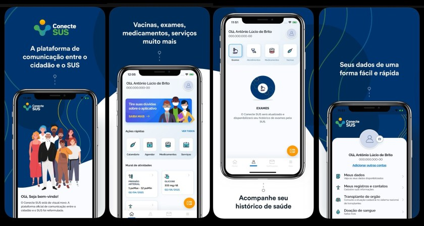 With the Connect SUS app, a lot of information will be at your disposal at any time.  (Ministry of Health/Reproduction)