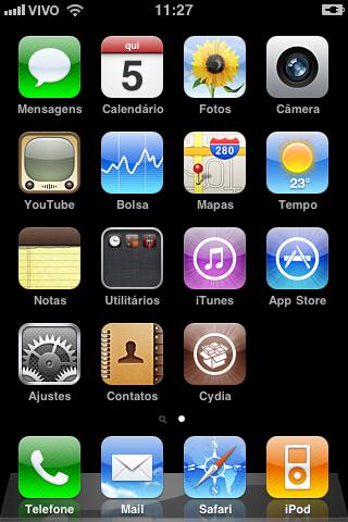 Cydia na tela de início.