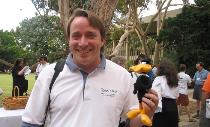 Linus Torvalds em foto de Alex Dawson.