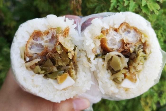 阿滿早點│鹿港早餐、鹿港飯糰,份量十足又實惠的媽媽味飯糰!