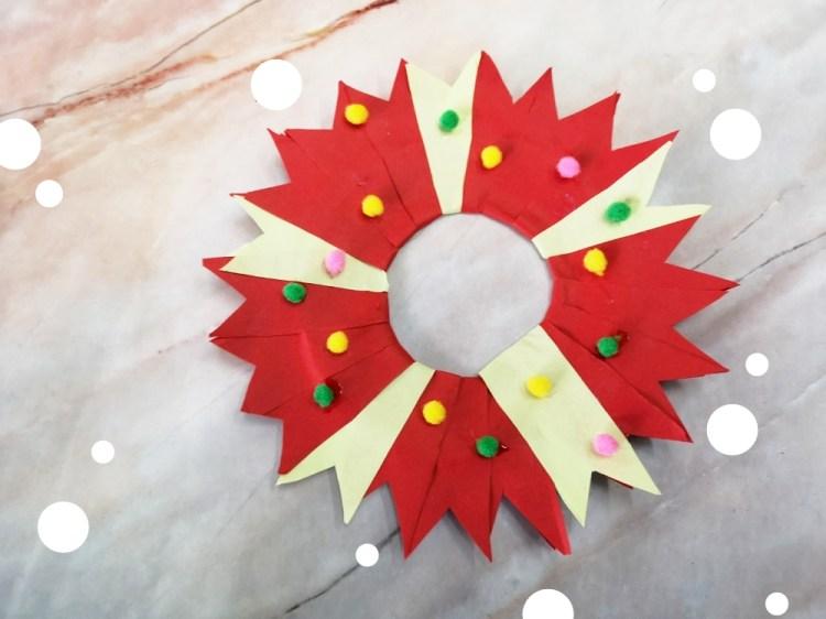 中階版聖誕花圈DIY │ 聖誕花圈好簡單,小朋友一起動手做~