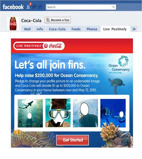 Coke Launches Facebook Campaign Focused On Earth Month