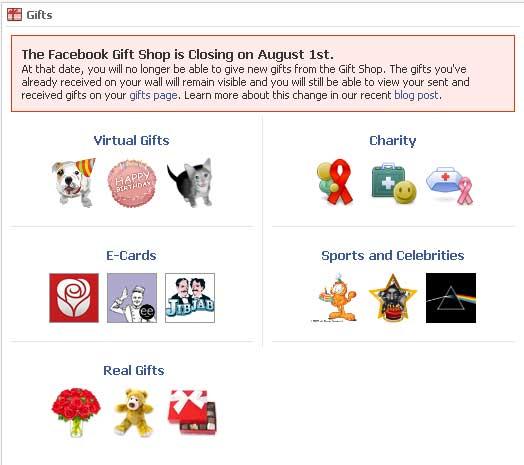 Facebook Set To Close Gift Shop