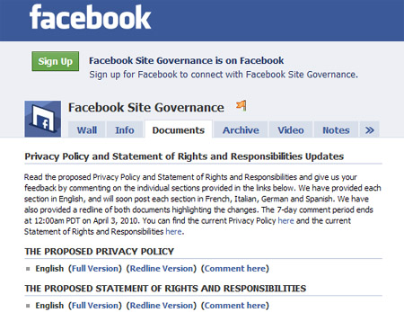 Facebook Revisits Privacy Policy Ahead Of New Features