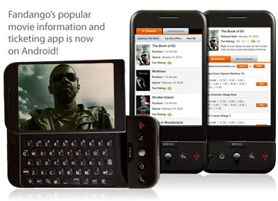 Fandango Launches App For The Android Platform
