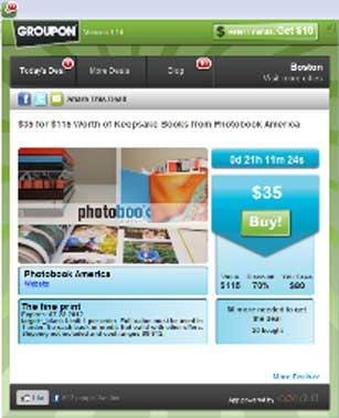 Groupon Introduces Browser Deal App