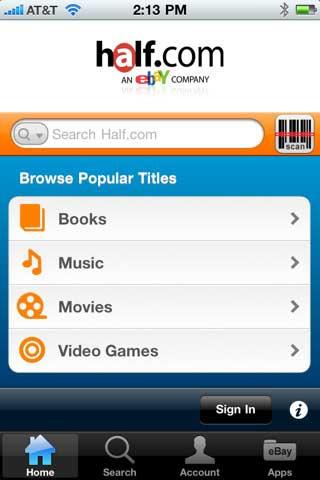 Half.com Launches iPhone Comparison Shopping App