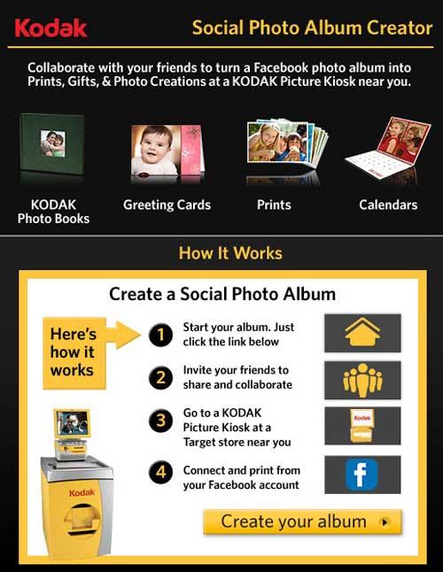 Kodak Launches Facebook Photo Album App