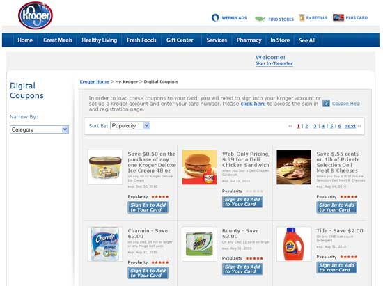 kroger launches online coupon center