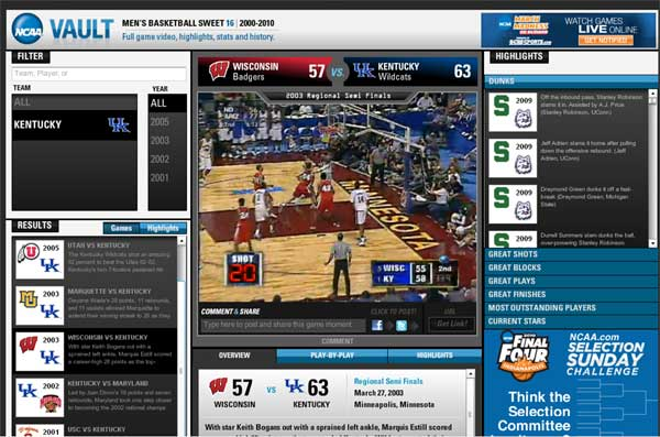 NCAA Vault Puts March Madness Archives Online