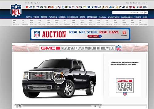 GMC Partners With NFL For Online Contest