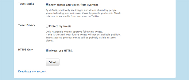 """Twitter Adds """"Always Use HTTPS"""" Setting"""