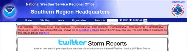 National Weather Service Asks For Twitter Storm Reports